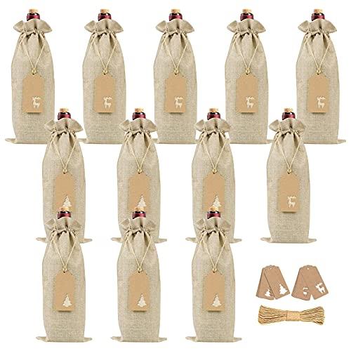 12 Unids Cubierta de la botella de vino de Navidad Navidad Vino...