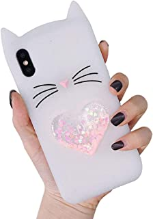 BONTOUJOUR Case iPhone Xs Max 6.5 inch, Super Cute Pig Serie 3D Piggy Case, Soft TPU Cat Shape Phone Case Cover - White cat