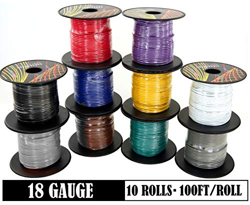 Remington Industries 28UL1007STRBLA UL1007 28 AWG Gauge Stranded Hook-Up Wire Black 0.0126 Diameter 300V 100 Length