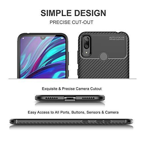 iBetter für Huawei Y7 2019 Hülle, für Huawei Y7 Prime 2019 Hülle, Ultra Thin Tasche Cover Silikon Handyhülle Stoßfest Case Schutzhülle Shock Absorption Backcover passt für Huawei Y7 2019 Phone - 4