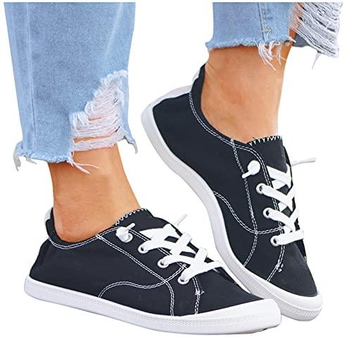 Damen Cute Sneaker Canvas Schuhe Weiche Damen Herbst Loafer Flache Schuhe Sneakers
