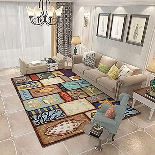 MEIDEL Alfombra de Pelo 140x160cm Polipropileno Felpa Alfombra Moderna Estilo Moderno Adecuado salón Dormitorio baño Silla cojín, SU-K45