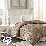 Madison Park Down Alternative Blanket Hypoallergenic 3M Scotchgard Stain Resistant Bedroom Bedding, Standardsized Full/Queen, Windom Brown
