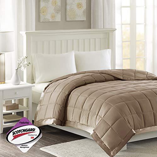 Madison Park Down Alternative Blanket Hypoallergenic 3M Scotchgard Stain Resistant Bedroom Bedding, Standardsized King, Windom Brown