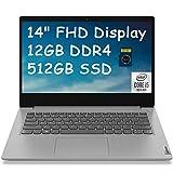2021 Lenovo Ideapad 3 14 Premium Laptop Computer I 14' FHD Anti-Glare I 10th Gen Intel Quad-Core i5-1035G1 (i7-8650U) I 12GB DDR4 512GB SSD I Dolby Webcam WiFi HDMI Win 10 + Delca 32GB Micro SD Card