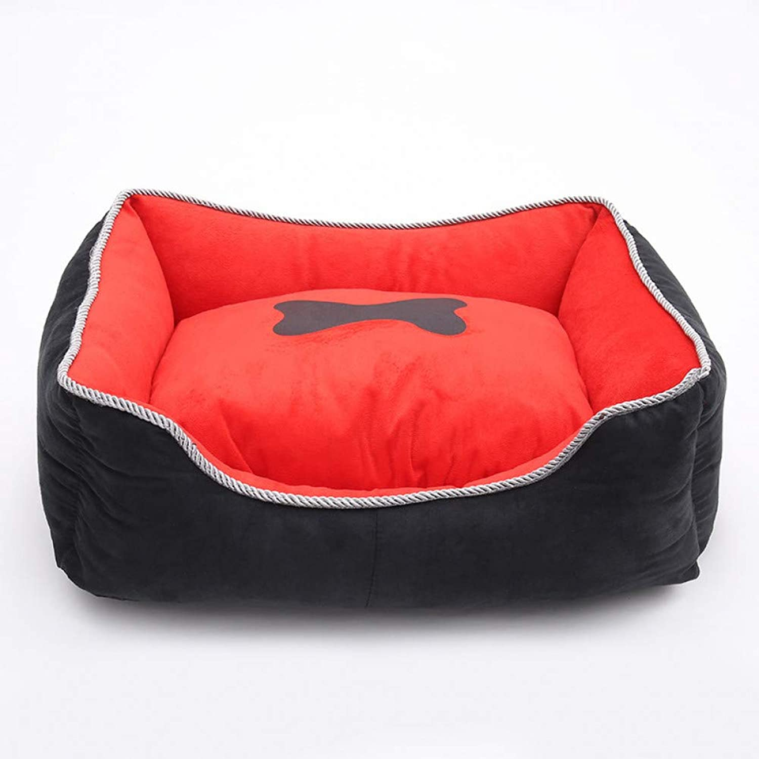 CZHCFF Dog Kennel House Pet Bed for Cats Small Dog Pug Pomeranian Detachable Cushion Pillow Soft Pet Sofas Animal Bed