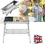 Tribesigns Barbecue Grill Outdoor, 2 in 1 Folding Portable BBQ for 5-15 Persons Family Garden Outdoor Cooking Camping Hiking Picnics Backpacking Barbecue Party