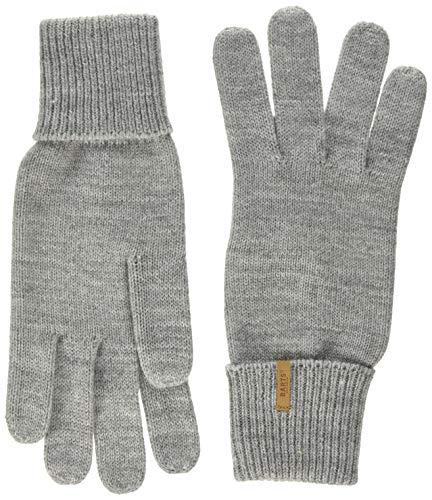 Barts Damen Fine Knitted Glove Handschuhe, Grau (Heather Grey 0002), Medium