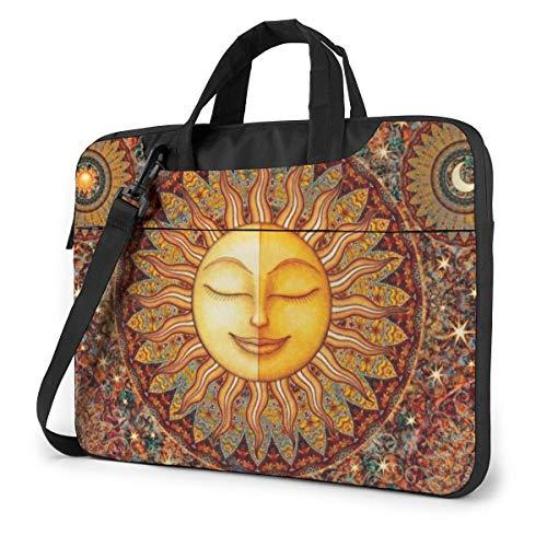 Sun Mandala Bohemia Laptop Bag Shockproof Briefcase Tablet Carry Handbag for Business Trip Office 15.6 inch
