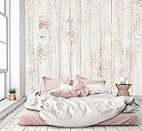 murimage Papel Pintado Óptica de Madera Blanca 274 x 254 cm Incluye Pegamento Fotomurales Vintage Shabby Chic 3D escandinavo Tableros Foto Mural Pared