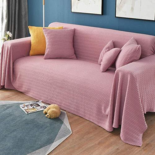 Jonist Funda de sofá Universal Suave Lavable, Toalla de sofá de protección Antiarrugas para Muebles, para sillón, sofá sin Brazos, Rosa 90x150cm (35x59 Pulgadas)