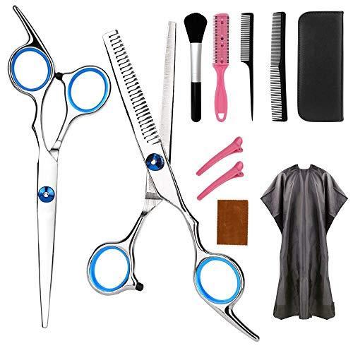 Haarschere Set 11PCS, Professionelle Friseurschere Effilierschere Schnitt Edelstahl Friseur Scheren für Kinder Frauen und Männer