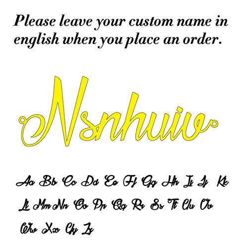 CXWK Gargantilla de Acero Inoxidable Lemegeton, Collar con Nombre Personalizado para Mujer, Placa de identificación Personalizada, Regalo de cumpleaños para Novia, Oro, 60 cm