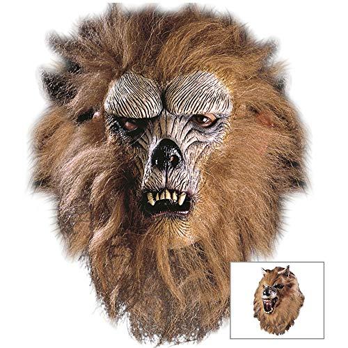 Widmann - Máscara para disfraz de adulto lobo (4578W) ,