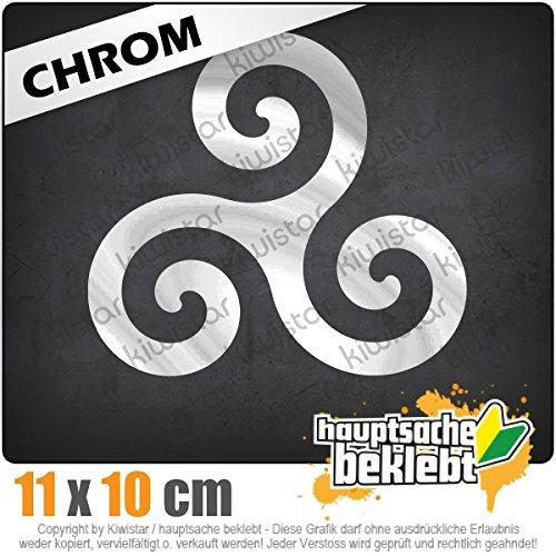 Triskele 11 x 10 cm In 15 Farben - Neon + Chrom! JDM Sticker Aufkleber