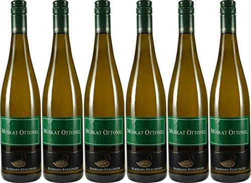 Schwahn-Fehlinger Westhofener Steingrube Muskat Ottonel Qualitätswein *** 2019 Trocken (6 x 0.75 l)