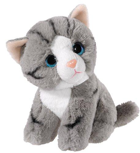 Heunec 276079 Plüschtier, Katze, grau mit weiß