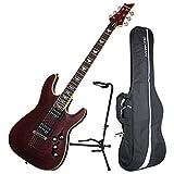 Schecter Omen Extreme-6 BCH Black Cherry Electric Guitar Bundle w/Gig Bag & Stan