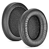 BANAN Almohadillas de piel para orejas de esponja compatibles con HyperX Alpha/Cloud II/Stinger de repuesto de espuma viscoelástica cubre auriculares orejeras