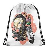 Yuri Plisetsky Drawstring Bag Sports Fitness Bag Travel Bag Gift Bag