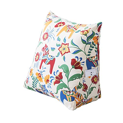 Rückenkissen Keilkissen für Couch und Sofa Dreieckige Keil Kissen Lesekissen für bequemes Sitzen 5 Farben Einfache Mode Stil Drucken Keil Kissen kopfteil
