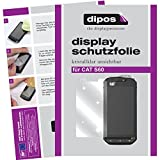 dipos I 6X Schutzfolie klar kompatibel mit CAT S60 Folie Bildschirmschutzfolie