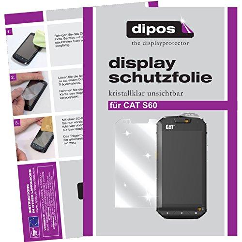 dipos I 2X Schutzfolie klar kompatibel mit CAT S60 Folie Displayschutzfolie