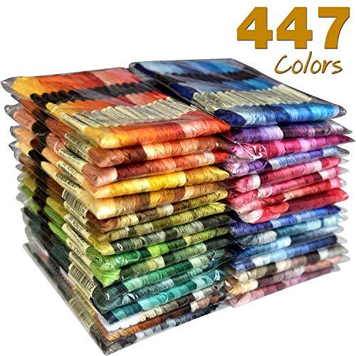 All 447 Color Embroidery Floss - Cross Stitch Threads - Friendship Bracelets Floss - Crafts Floss