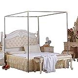 YOGANHJAT Moustiquaire Cadre de lit 4 Coins Moustiquaire Cadre de lit pour lit Double/Double XL/Full/Queen/King/California King Size Support moustiquaire,22mm,1.8×2.2m Bed