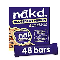 ALL NATURAL – These healthy snack bars are made with 100% natural ingredients, just fruit and nuts smooshed together! GLUTEN FREE – Nakd Blueberry Muffin is a delicious wheat free and gluten free fruit and nut bar. HEALTHY SNACK – One of your five a ...