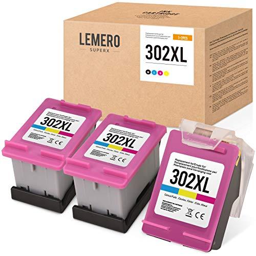 3 LEMERO SUPERX Kompatibel für HP 302...