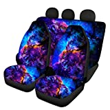 TSVAGA Fashion Blue Galaxy Car Seat Covers Full Set for Women Gifts Automotive Accessories Universal Fit for Car,Truck,SUV,Vans Durbale Elastic Personalized Auto Seats Protector Front & Rear