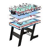 WERTYU Futbol Table America Foosball Snooker Billar Hockey sobre Hielo Tenis de Mesa Ajedrez Mesa de fútbol Mesa de fútbol Adultos Niños Regalo Bar Fiesta Juego PK(Color:I)
