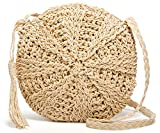 Women's Straw Crossbody Bags Weave Rattan Summer Beach Shoulder Purse Handbags