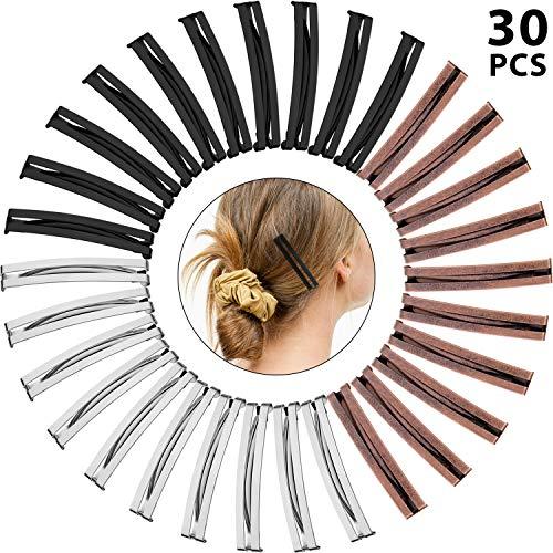 30 Stücke Öffnen Zentrum Gewölbte Metallspangen Anti-Rutsch-Metall Haarspange für Mädchen und Frauen, Verschiedene Farben(Mittelspange Öffnen)