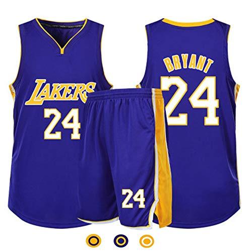 NBA Lakers # 24 Kobe Bryant Divise Da Basket Estive Retrò, Uomo, Canotte, T-Shirt + Pantaloncini, Abbigliamento Sportivo Traspirante, Maglie. I Fan Fedeli Non Dovrebbero Perderlo