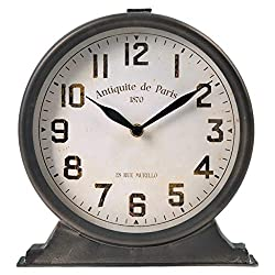 NIKKY HOME Antique Mantel Clock, Battery Operated Decorative Desk Table Clock for Home, Office, Living Room, Bed Room, Brown