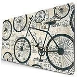 Alfombrilla de ratón Retro Bicyclecustom, Alfombrilla de Escritorio para Bicicleta Retro, Alfombrilla de ratón, Protector, Alfombrilla de Teclado para Juegos Grande, Alfombrilla de ratón Grande no