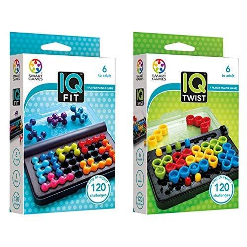 Smart Games SG 423 - Spiel Iq Fit &  Games SG 488 488-Spiel IQ Twist