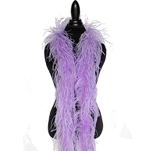 2ply Ostrich Feather Boas, Over 20 Colors to Pick Up … (Lavender)