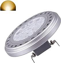 Led AR111 Reflector Spot Light Bulb 15W G53 Base 30°Beam View Angle Warm White Light 3000k SMD 15LEDs AC DC 12V Voltage Spotlight 1200Lm