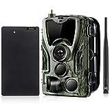 YTLJJ 4G Caméra de Chasse 16MP 1080P avec Batterie au Lithium 5000Mah, Trail Caméra MMS SMS avec...