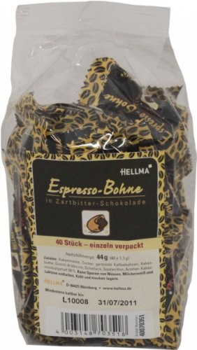 Hellma Espresso in Zartbitter-Schokolade (40 St. a 1,1g)