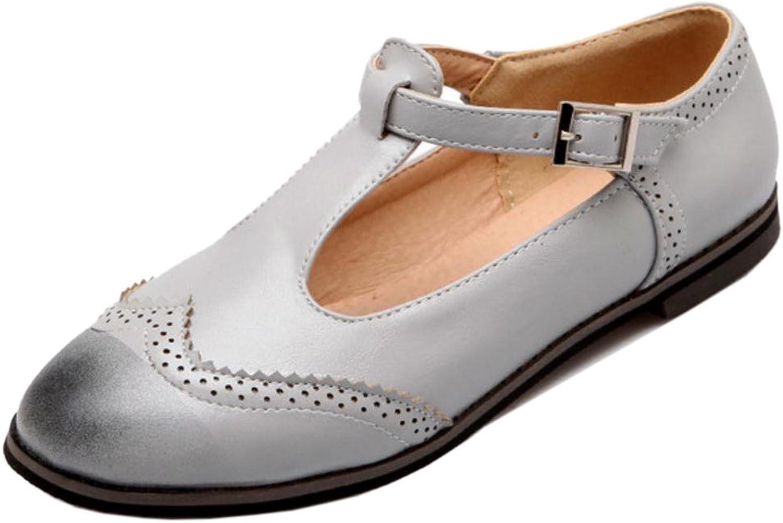 TAOFFEN Women's Flats T-Strap shoes