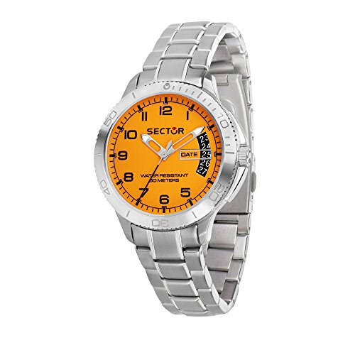 SECTOR NO LIMITS Herren Analog Quarz Uhr mit Edelstahl Armband R3253578008