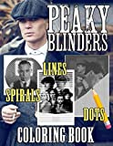 Peaky Blinders Dots Lines Spirals Coloring Book: Color The Series Peaky Blinders Through The Dots Lines Spirals Image