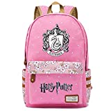 NYLY Mochila Floral Harry Potter Mochila Slytherin,Teen Boys Girls Fashion School Bag Bolso para portátil M (Rosa) Estilo-9