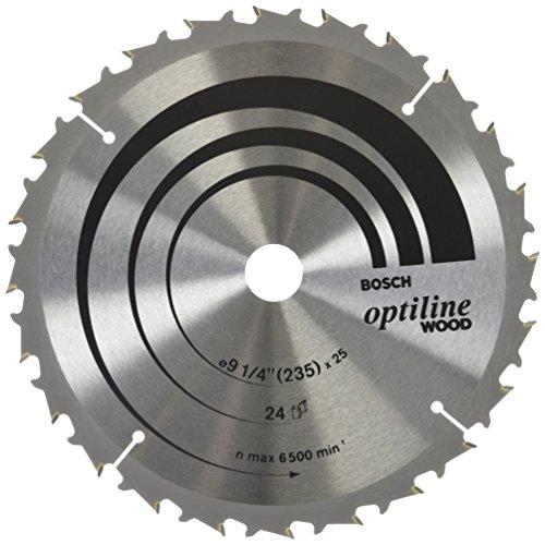Disco de serra circular Bosch Optiline Wood ø235, furo de 25 mm, espessura de 1,8 mm, 24 dentes