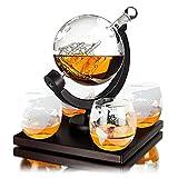 Whisiskey - Mundo - Jarra decantadora (0,9 l, incluye 9 piedras de whisky, funda de regalo y 4 vasos)