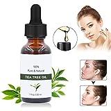 Aceite esencial de árbol de té 30ml, Aceite de acné natural,WAWJ Aceite Esencial de Árbol de Té Orgánico 100% para Cara,Cuerpo, Masaje,Difusores y Baño